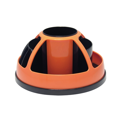 Picture of O-Life Desk Organizer S-899, rotating, empty, black/orange