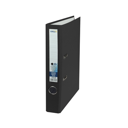 Picture of Office 1 Superstore Lever Arch File, 5 cm, PVC without metal strip, black