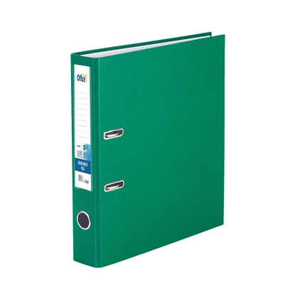 Picture of Office 1 Superstore Lever Arch File, 5 cm, PVC without metal strip, green