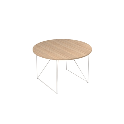 Picture of Narbutas Conference table Air, 1200x1200x740 mm, Melamine amber oak, white metal