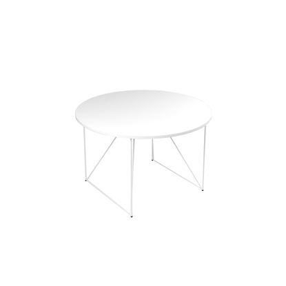 Picture of Narbutas Conference table Air, 1200x1200x740 mm, white Melamine, white metal