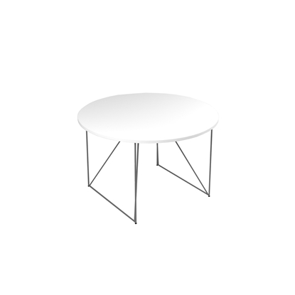 Picture of Narbutas Conference table Air, 1200x1200x740 mm, white Melamine, grey  metal