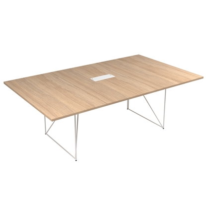 Picture of Narbutas Conference table Air, 2200x1300x740 mm, Melamine amber oak, white metal