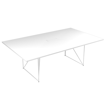 Picture of Narbutas Conference table Air, 2200 x1300 x740 mm, white Melamine, white metal