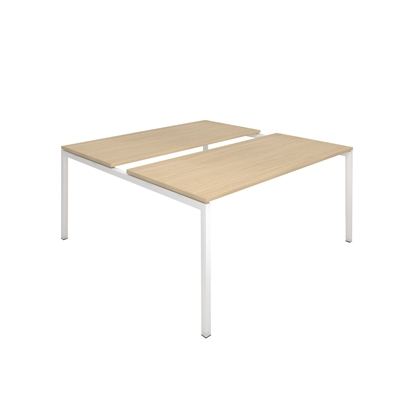 Picture of Narbutas Conference table Nova, 1600x1640x740 mm, Melamine whitened oak, white metal, leg type U
