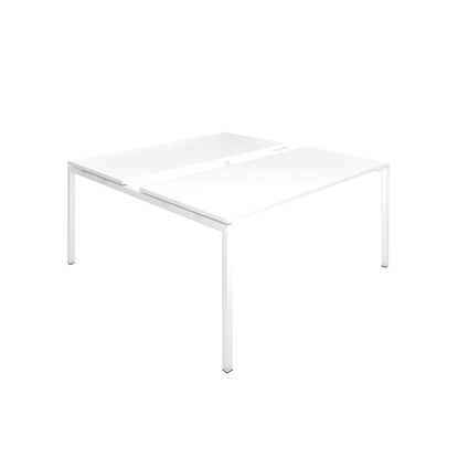 Picture of Narbutas Conference table Nova, 1600x1640x740 mm, white Melamine, white metal, leg type U