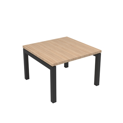 Picture of Narbutas Short legged table Nova, 600x600x400 mm, Melamine amber oak, black metal, leg type U