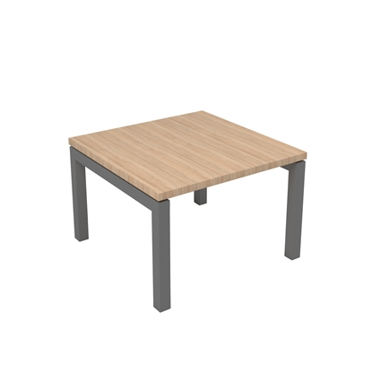 Picture of Narbutas Short legged table Nova, 600x600x400 mm, Melamine amber oak, grey metal, leg type U