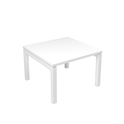 Picture of Narbutas Short legged table Nova, 600x600x400 mm, white Melamine, white metal, leg type U