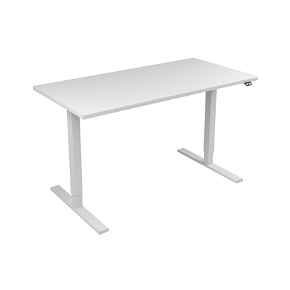 Picture of Narbutas Height-adjustable desk One, electric, 1400x700x1185 mm, white melamine, white metal, leg type I
