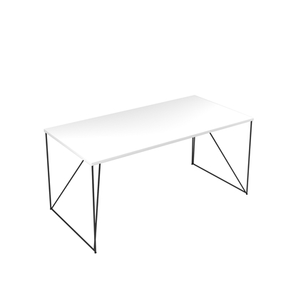 Picture of Narbutas Desk Air, 1600x800x740 mm, white melamine, black metal