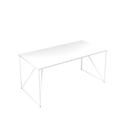Picture of Narbutas Desk Air, 1600x800x740 mm, white melamine, white metal