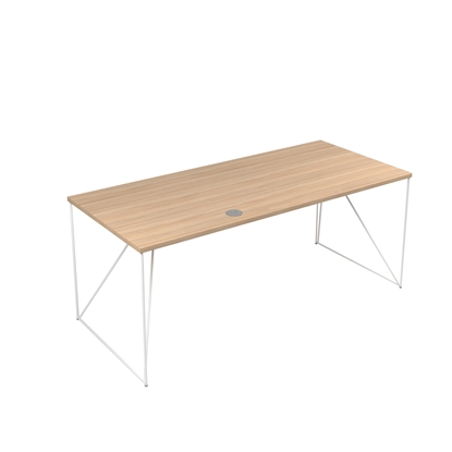 Picture of Narbutas Desk Air, 1800x800x740 mm, amber oak melamine, white metal