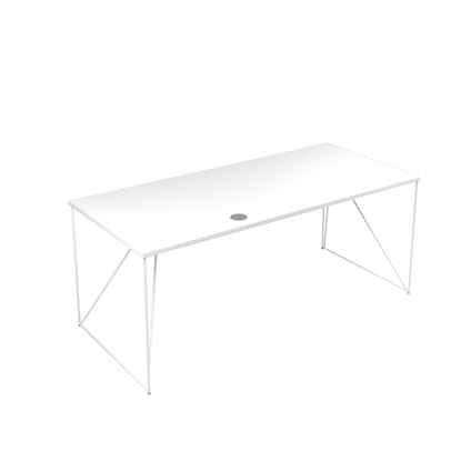 Picture of Narbutas Desk Air, 1800x800x740 mm, white melamine, white metal