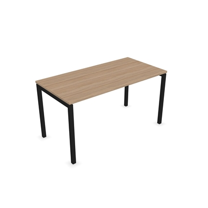 Picture of Narbutas Desk Nova U, 1400x700x740 mm, amber oak melamine, black metal, leg type U
