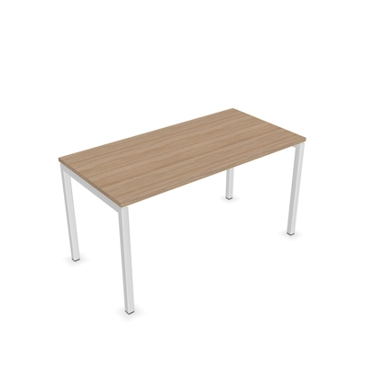 Picture of Narbutas Desk Nova U, 1400x700x740 mm, amber oak melamine, white metal, leg type U