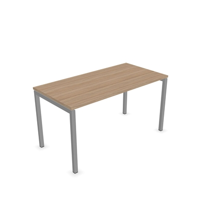 Picture of Narbutas Desk Nova U, 1400x700x740 mm, amber oak melamine, grey metal, leg type U