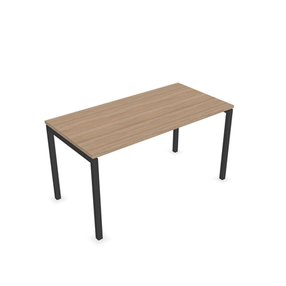Picture of Narbutas Desk Nova U, 1400x700x740 mm, amber oak melamine, dark grey metal, leg type U