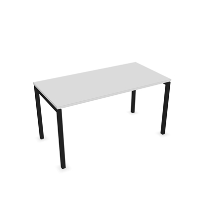 Picture of Narbutas Desk Nova U, 1400x700x740 mm, white melamine, black metal, leg type U