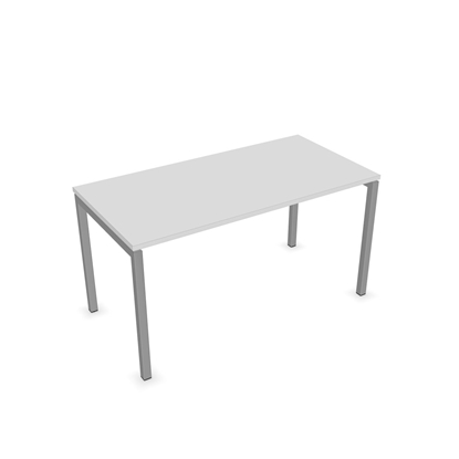Picture of Narbutas Desk Nova U, 1400x700x740 mm, Melamine white, grey metal, leg type U