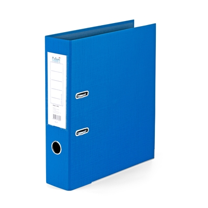 Picture of Colori PP Lever Arch File with metal strip, 8 cm, blue