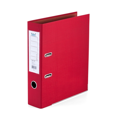 Picture of Colori PP Lever Arch File with metal strip, 8 cm, red