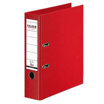 Picture of Falken Chromocolor PP Lever Arch File, 8 cm, red
