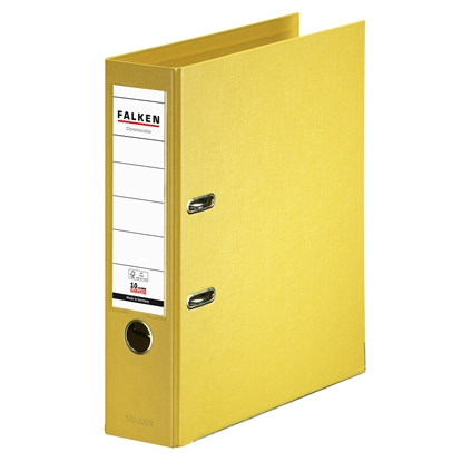 Picture of Falken Chromocolor PP Lever Arch File, 8 cm, yellow