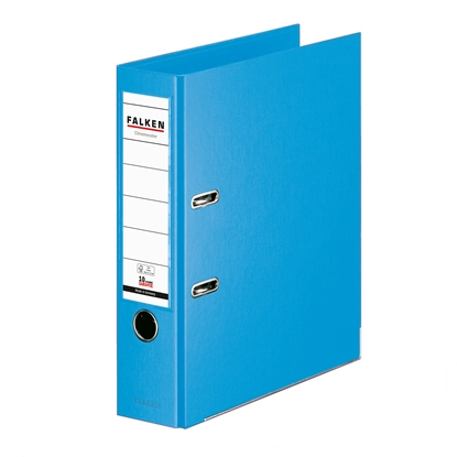 Picture of Falken Chromocolor PP Lever Arch File, 8 cm, light blue