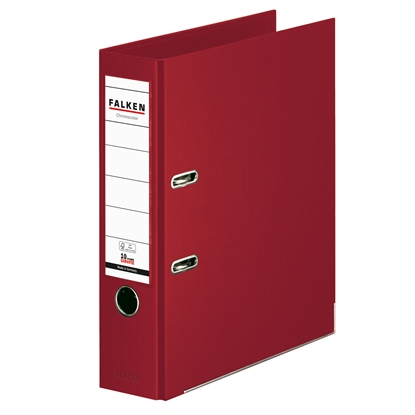 Picture of Falken Chromocolor PP Lever Arch File, 8 cm, bordeaux