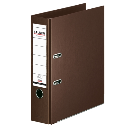 Picture of Falken Chromocolor PP Lever Arch File, 8 cm, brown