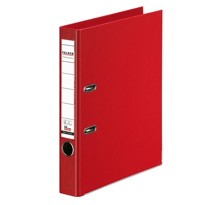 Picture of Falken Chromocolor PP Lever Arch File, 5 cm, red