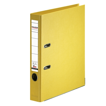 Picture of Falken Chromocolor PP Lever Arch File, 5 cm, yellow