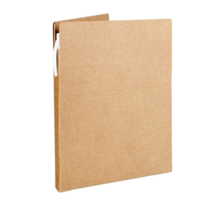 Picture of Hi!dea folder, cardboard, A5, 450 g/m2, with added pad for writing and Ballpen