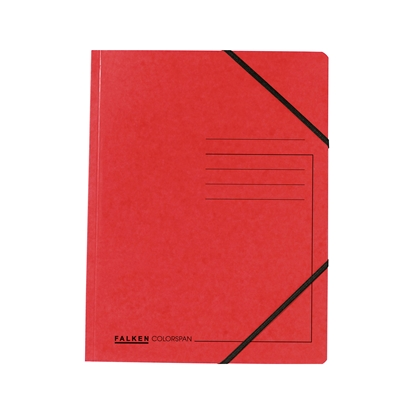 Picture of Falken Folder A4, strong cardboard, with elastic strap, 320 g/m2, red