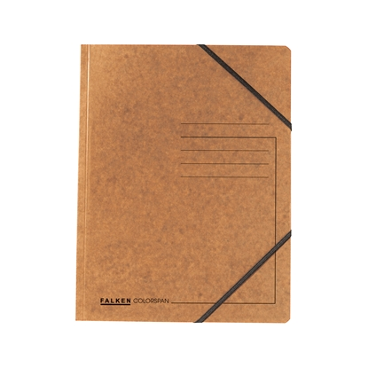 Picture of Falken Folder A4, strong cardboard, with elastic strap, 320 g/m2, brown