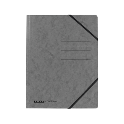 Picture of Falken Folder A4, strong cardboard, with elastic strap, 320 g/m2, grey