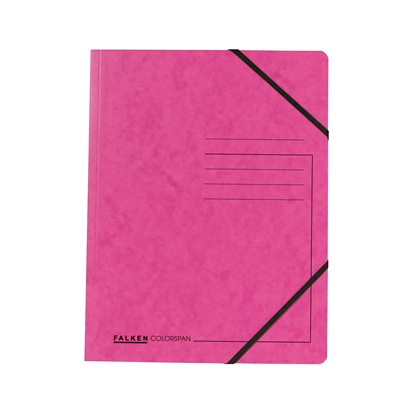 Picture of Falken Folder A4, strong cardboard, with elastic strap, 320 g/m2, pink