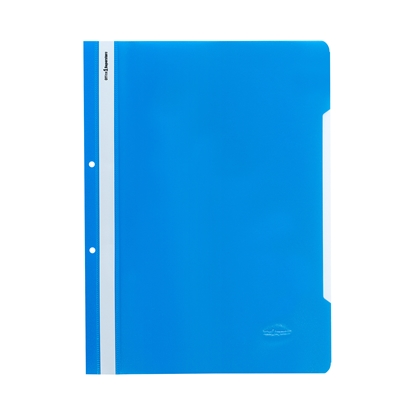 Picture of Office 1 Superstore PP Flat File with perforation, blue, 12 pcs.