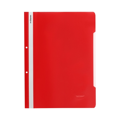 Picture of Office 1 Superstore PP Flat File with perforation, red, 50 pcs.