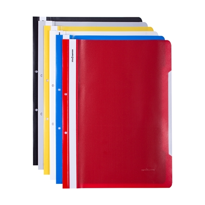 Picture of Office 1 Superstore PP Flat File with perforation, assorted colours, 12 pcs.