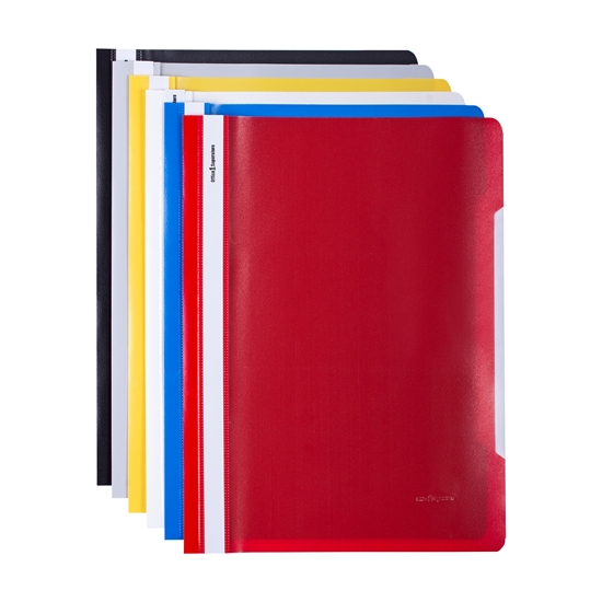 Picture of Office 1 Superstore PP Flat File without perforation, assorted colours, 12 pcs.