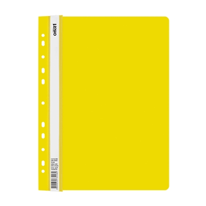 Picture of Office 1 Superstore PP Flat File with Euro perforation, yellow, 12 pcs.