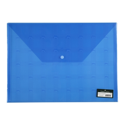 Picture of Faber-Castell PP File with button, with logo, blue
