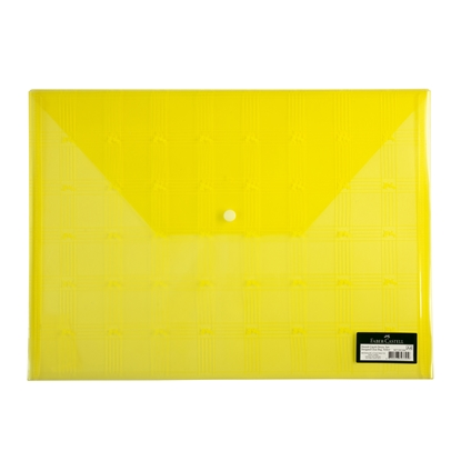 Picture of Faber-Castell PP File with button, with logo, yellow