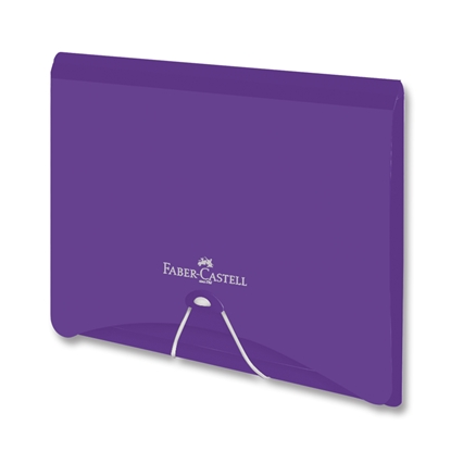 Picture of Faber-Castell File Folder PP, with rubber band, violet