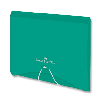 Picture of Faber-Castell File Folder PP, with rubber band, green