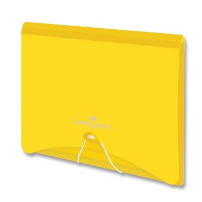 Picture of Faber-Castell File Folder PP, with rubber band, yellow