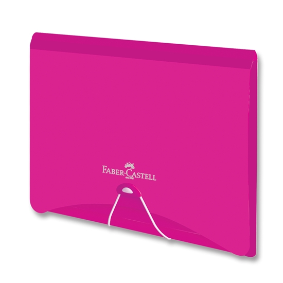 Picture of Faber-Castell File Folder PP, with rubber band, pink