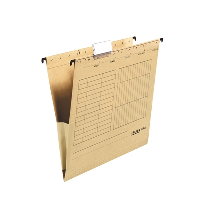 Picture of Falken Suspension File,  cardboard, with gusset, brown, 5 pcs.